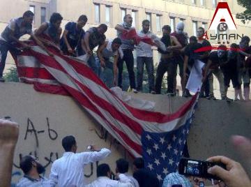 اقتحام السفارة الأمريكية رداً على الفيلم المسىء للرسول