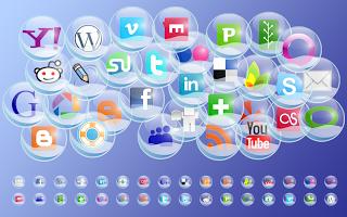 ايقونات مواقع النشر الاجتماعية