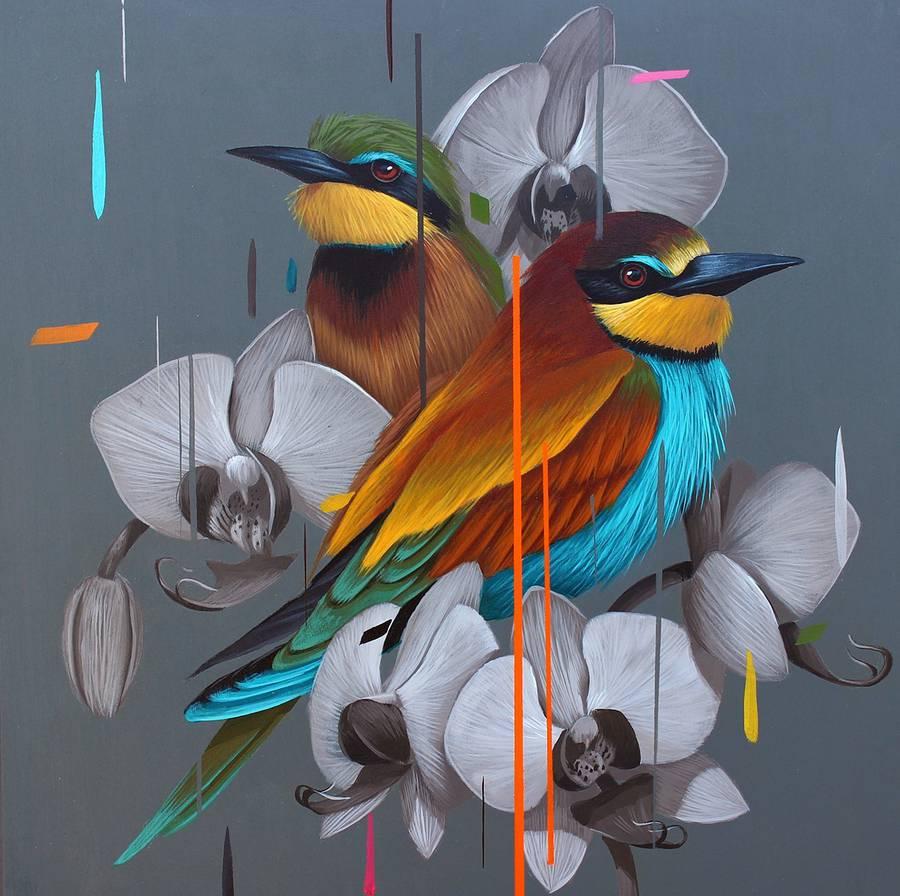 Photo of رسومات للطيور بألوان زاهية جمالية Birds Painting